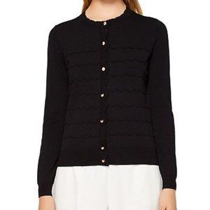 Ted Baker Cherell Scallop Stitch Cardigan Black 3